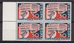 Europa Cept 1962 Liechtenstein 1v Bl Of 4 ** Mnh (LI246N) - 1962