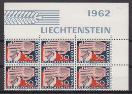Europa Cept 1962 Liechtenstein 1v Bl Of 6 ** Mnh (LI246P) - 1962