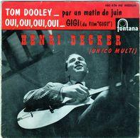 Disque De Henri Decker (unico Multi) - Tom Dooley - Fontana 460.626 ME Médium - 1959 - - Country Et Folk