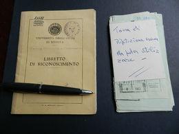 2.1) UNIVERSITA DI MESSINA LIBRETTO RICONOSCIMENTO 1960 CON MOLTI PAGAMENTI ALLEGATI BUONE CONDIZIONI  VEDI FOTO - Diplomi E Pagelle