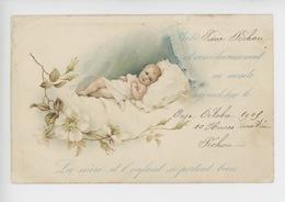 Faire-part De Naissance : Pierre Pichon 11 Octobre 1903 (bébé églantier Berceau) - Naissance & Baptême