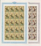 Liechtenstein 1961 Minnesänger 1 25Rp+35Rp 2v Sheetlets ** Mnh (LI247) - Ongebruikt