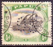 PAPUA (BRITISH NEW GUINEA) 1908 SG #O21 ½d Used Official Wmk Sideways Perf.12½ - Papua New Guinea