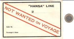 ETIQUETA    HANSA LINE - Publicidad