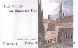Billet 1,5 EURO Du THORONET (VAR - 83) Euros Des Régions De 1996 - NEUF ** - Abbaye Cistercienne - Specimen