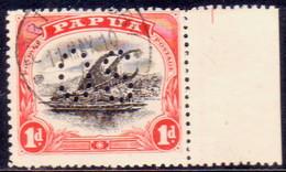 PAPUA (BRITISH NEW GUINEA) 1908 SG #O22 1d Used Official Wmk Sideways Perf.12½ - Papua New Guinea