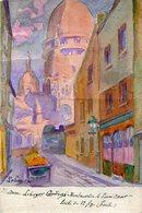 PARIS(18em ARRONDISSEMENT) CARTE PEINTE A LA MAIN - District 18