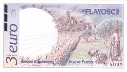 Billet 3 EURO De FLAYOSC (VAR - 83) Euros Des Régions De 1996 - NEUF ** - Semaine Européenne - Vigne Vin Oliviers Olives - Specimen