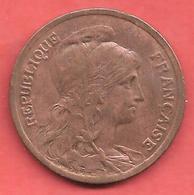 10 Centimes , DANIEL DUPUIS , Bronze , 1915 , N° F # 136.26 - D. 10 Centimes