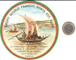 ETIQUETA    CROFT WORLD FAMOUS PORTS EST. 1678 - Publicidad