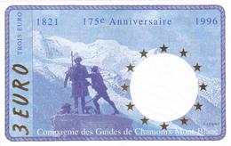 Billet 3 EURO - Euros Des Régions De 1996 - NEUF ** - 175 Ans De La Compagnie Des Guides De Chamonix Mont Blanc - Specimen
