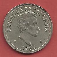 20 Centavos , COLOMBIE  , Cupro-Nickel , 1964 , N° KM # 215.2 - Colombie