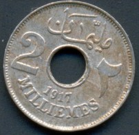 EGYPT , 2 MILLIEMES 1917 - Egitto