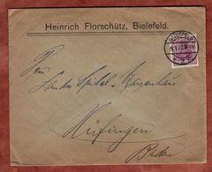 Drucksache, Florschuetz Bielefeld, Germania, Nach Huefingen 1922 (72051) - Briefe U. Dokumente