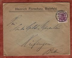 Drucksache, Florschuetz Bielefeld, Germania, Nach Huefingen 1922 (72051) - Cartas