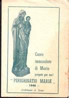 Peregrinatio Mariae Anno 1948  Santino Pieghevole Con Preghiera - Religion & Esotérisme