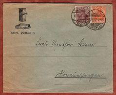 Drucksache, Germania, Aalen Nach Donaueschingen 1921 (72052) - Briefe U. Dokumente