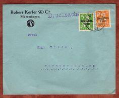 Drucksache, Kerler Memmingen, Bayernabschied, Nach Donaueschingen 1921 (72053) - Briefe U. Dokumente