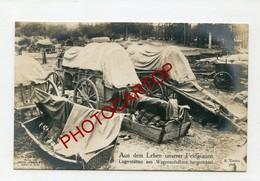 CAMPEMENT De Fortune-LITS-Lager-Non Situee-CARTE PHOTO Allemande-Guerre 14-18-1WK-Militaria- - Oorlog 1914-18