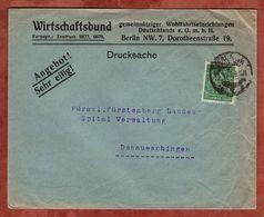 Drucksache, Wirtschaftsbund Berlin, Schnitter, Nach Donaueschingen 1923 (72054) - Briefe U. Dokumente