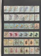 MOZAMBICO - MOCAMBIQUE - MOZAMBIQUE - Lotto - Accumulo - Vrac - 42 Francobolli - Mappa - Pesce - Farfalla - Valori Misti - Francobolli