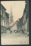 REBECQ. Rue Du Roi De Rome. Très Animée. Circulé En 1907. - Rebecq