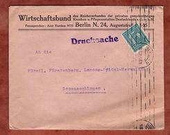 Drucksache, Wirtschaftsbund Berlin, Ziffer, Nach Donaueschingen 1922 (72057) - Briefe U. Dokumente