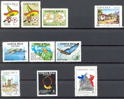 Costa Rica - 1986/1989 - Petit Lots Timbres * Charnières - Costa Rica