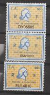 Série 3 Timbres Fiscaux Millésime 01 - 02 - 03  -  3 Timbres Amende - 90 - Steuermarken