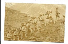 CARTE PHOTO Ancienne SUISSE - ANDERMATT - MILITAIRES MONTAGNARDS (1900) - UR Uri