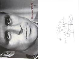 Carte De  Raymond KOPA - Dédicace - Hand Signed - Autographe Authentique  - - Voetbal