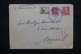 ESPAGNE - Cachet De Censure Militaire De Guipuszoa Sur Enveloppe Pour La France En 1939 - L 27820 - Republikanische Zensur