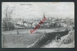 REBECQ. Panorama.  Petit Attelage.  Circulé En 1921.   2 Scans - Rebecq