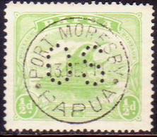 PAPUA (BRITISH NEW GUINEA) 1911-12 SG #O38 ½d Used Official Printed In One Colour - Papua New Guinea