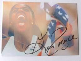 """Carte De  Gwendoline """"Gwen """" TORRENCE - Dédicace - Hand Signed - Autographe Authentique  - - Athlétisme"""