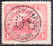 PAPUA (BRITISH NEW GUINEA) 1911-12 SG #O39 1d Used Official Printed In One Colour - Papua New Guinea