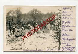 Tenue De CAMOUFLAGE-SCHNEETARNANZUG-Manteau Neige-Patrouille-Non Situee-CARTE PHOTO All.-Guerre 14-18-1WK-Militaria- - War 1914-18