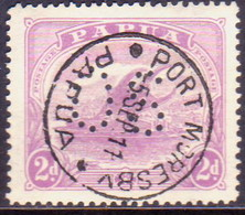 PAPUA (BRITISH NEW GUINEA) 1911-12 SG #O40 2d Used Official Printed In One Colour - Papua New Guinea