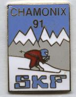 Pin's Ski Sport D'hiver Chamonix Montagne - Sports D'hiver