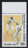 Repubblica Del Congo Republic Of Congo 1996 - Giochi Olimpici Atlanta Olympic Games Scherma Fencing MNH ** - Scherma