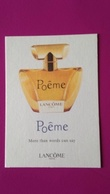 POEME   LANCOME - Perfume Cards