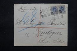 ESPAGNE - Enveloppe En Recommandé De Jerez De La Frontera Pour Boulogne / Seine En 1912 - L 27824 - 1889-1931 Royaume: Alphonse XIII