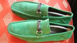 GUCCI Mocassins Vert Veronèse - Vintage Clothes & Linen