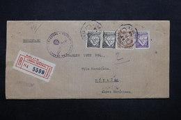 PORTUGAL - Enveloppe En Recommandé De Lisbonne Pour Monaco Avec Contrôle Postale En 1943 - L 27826 - 1910-... République