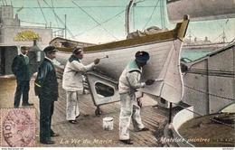 MARINE MILITAIRE FRANCAISE  La Vie Du Marin , Matelots Peintres   ... - Warships