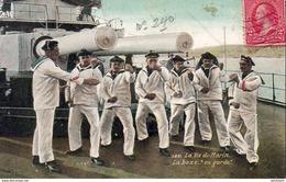 MARINE MILITAIRE FRANCAISE  La Vie Du Marin , La Boxe En Garde   ... - Warships