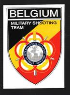 Autocollant équipe Militaire De Tir - Belgique - Militaria