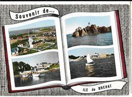 Souvenir De...  ILE De BREHAT (Multivues) Sémaphore-Phare De Paon-Port-Clos-Guerzido  Lapie , (bas Droit Défaut) - Ile De Bréhat