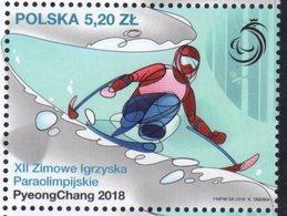 POLAND, 2018, MNH, WINTER PARALYMPICS, PYEONGCHANG, SKIING, 1v - Winter 2018: Pyeongchang