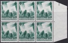 Deutsches Reich       .   Michel  632  6x        .    (*)      .    Kein Gummi     .  /   .   No Gum - Deutschland